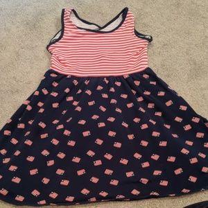 Little girls patriotic dress